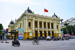 Opera House of Hanoi. Ha Noi is the capital and the second largest city in Vietnam.  stock photography