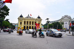 Opera House of Hanoi. Ha Noi is the capital and the second largest city in Vietnam royalty free stock image