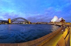 Opera House and Harbour Bridge stock photography