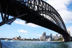 Opera House and Harbour Bridge Stock Images