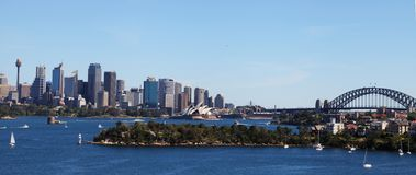 Opera House, Harbour Bridge and Sydney City Stock Images