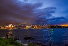 The Opera house is a symbol of Australia Royalty Free Stock Images