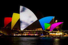 Opera House. Light on the Opera House Royalty Free Stock Images
