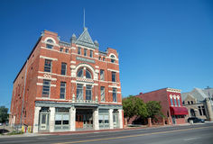 Opera House. Love Larson Opera House in Fremont, Nebraska, was built in 1888 and is one of the few and largest remaining opera houses in the U.S. It is a three Royalty Free Stock Images