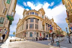 Opera house of Nice street view. Cote d Azur, France stock photography