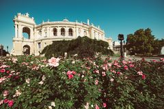 Opera house in Odessa stock images
