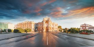 Opera House in Odessa, Ukraine. Odessa State Academic Opera and Ballet Theater stock images