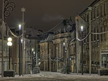 Opera house on Opernplatz, Bayreuth during Christmas Stock Images