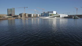 Opera House in Oslo stock video footage