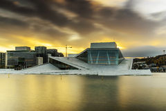 Opera House, Oslo. The Opera House in Oslo, Norway during sunrise Stock Images