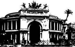 Opera house in Palermo Royalty Free Stock Images