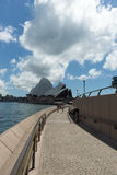 Opera House from Quay walkway Stock Image