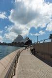 Opera House from Quay walkway Stock Image