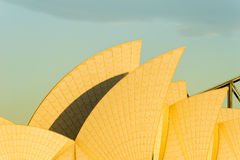 Opera house sails sunrise Stock Image