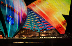 Opera House sails during Vivid Sydney Royalty Free Stock Images