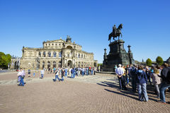 The Opera House, Semperoper, Dresden Stock Photos
