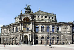 Opera house Semperoper in Dresden Stock Images
