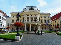 Opera House of the Slovak National Theater royalty free stock image