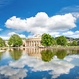 Opera House, Stuttgart, Germany. Beautiful european landscape with blue cloudy sky Royalty Free Stock Photography