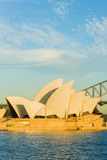 Opera house sunrise clouds Stock Photos