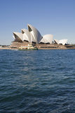 Opera House Sydney. View across Circular Quay to the Opera House with a Sydney ferry passing by. Copyspace royalty free stock photos