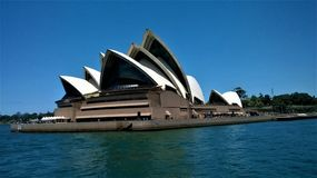 The Opera House Sydney Australia. On a clear summers day stock image