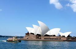 Opera House and Sydney harbor Royalty Free Stock Images