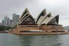 Opera House, Sydney harbour, Australia. Opera House on a gloomy day in Sydney Harbour, Waterfront, Australia Stock Photos