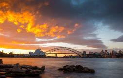 Opera house in Sydney. Royalty Free Stock Photography