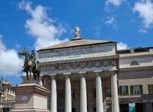 Opera house Teatro Carlo Felice (1824). Genoa, Italy Stock Photos