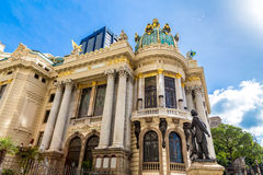 Opera House (Teatro Municipal) in Rio de Janeiro, Brazil.  Royalty Free Stock Images