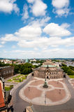 Opera House and Theatre Square  in Dresden Royalty Free Stock Image