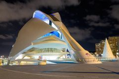 Opera house in Valencia, Spain royalty free stock photography