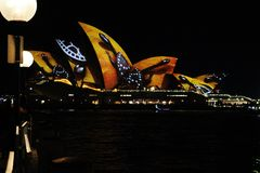 The Opera House vivid Festival 2016 royalty free stock photo