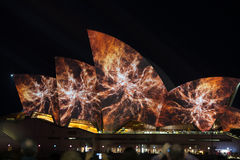 Opera house at the vivid light festival 2014 edition Stock Photos