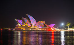 Opera house in Vivid show. Stock Photography
