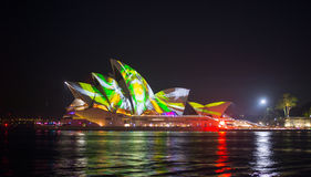 Opera house in Vivid show. Stock Image
