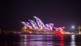 Opera house in Vivid show. Stock Images