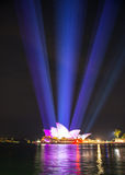 Opera house in Vivid show. Royalty Free Stock Photography