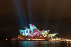 Opera house in Vivid Sydney 2012 Royalty Free Stock Photography