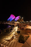 Opera house in Vivid Sydney 2012 Stock Photo