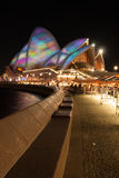 Opera house in Vivid Sydney 2012 Stock Images
