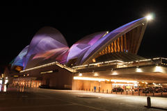 Opera house in Vivid Sydney 2012 Stock Image