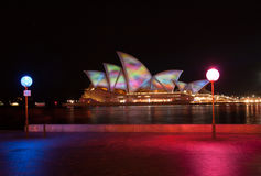 Opera house in Vivid Sydney 2011 Stock Images