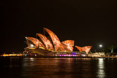 Opera house in Vivid Sydney. Stock Image