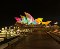 Opera house in Vivid Sydney. Stock Photos