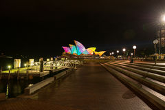 Opera house in Vivid Sydney. Royalty Free Stock Photo