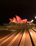 Opera house in Vivid Sydney. Stock Photography