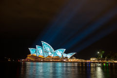 Opera house in Vivid Sydney. Royalty Free Stock Photography