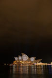 Opera house in Vivid Sydney. Royalty Free Stock Image